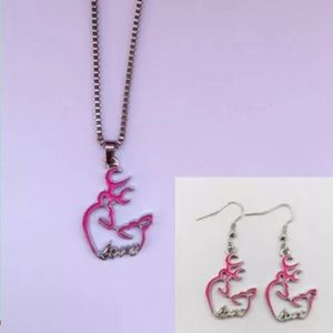 Browning pink necklace set